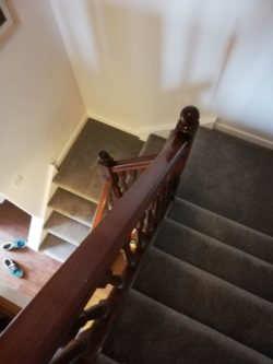 staircase 3 - carpet: Heather Twist - color: brown